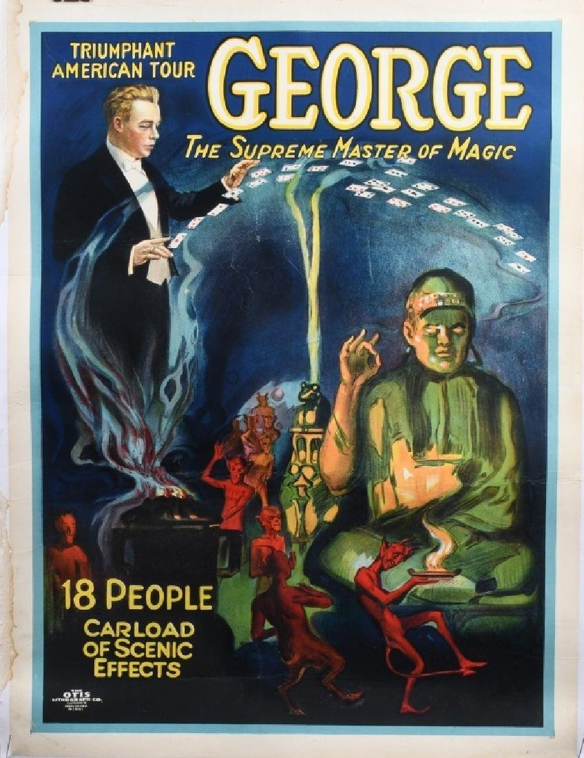 """GEORGE """"THE MASTER OF MAGIC"""" POSTER"""