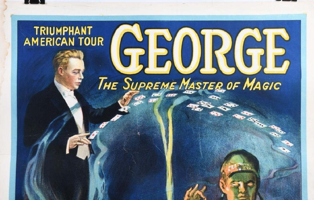 "GEORGE ""THE MASTER OF MAGIC"" POSTER - 2"
