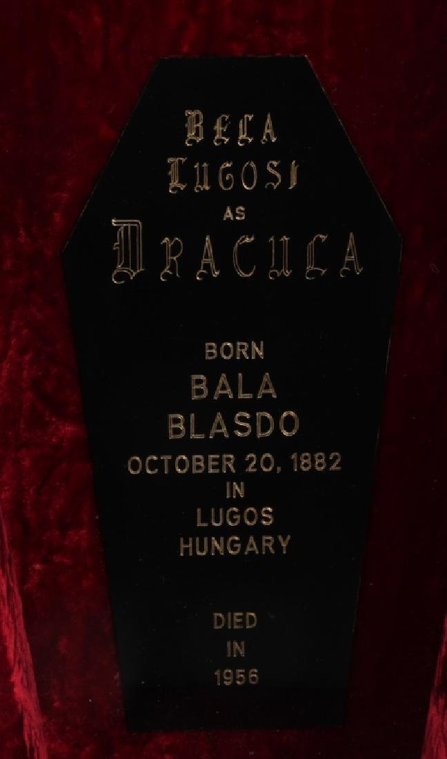 "BELA LUGOSI ""DRACULA"" AUTOGRAPH w/ COFFIN - 4"
