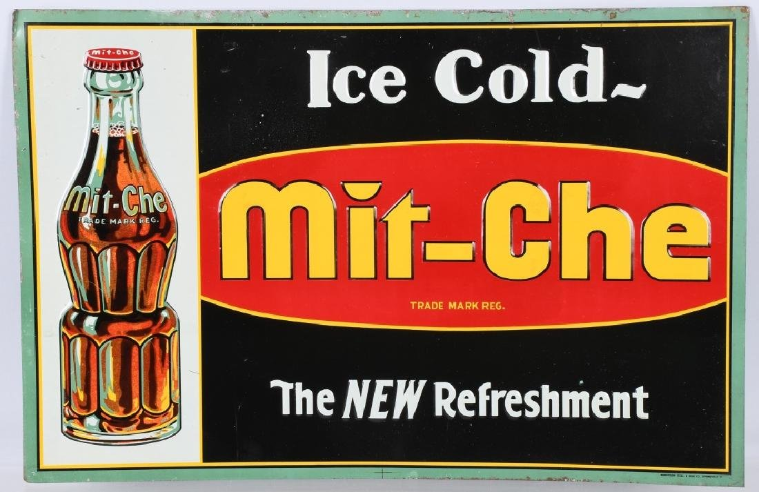 MIT-CHE EMBOSSED TIN SIGN