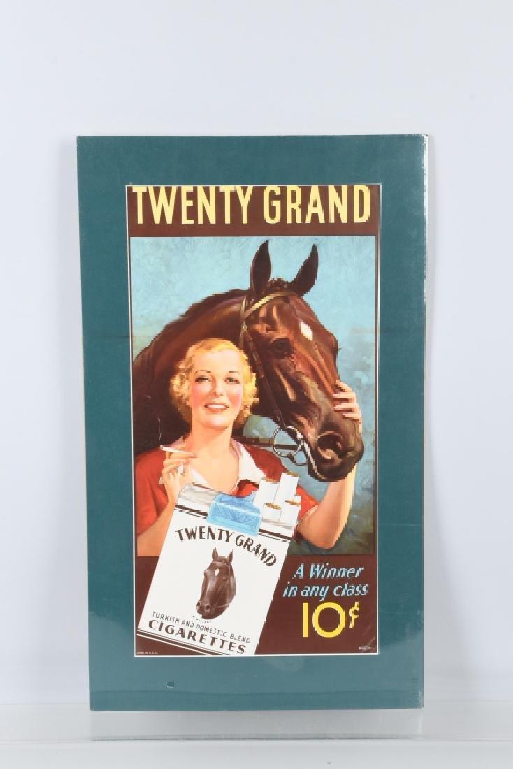 TWENTY GRAND CIGARETTES SIGN