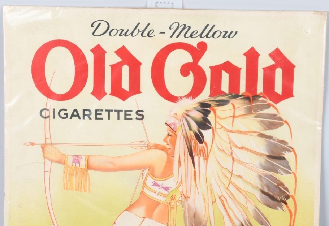 OLD GOLD CIGARETTES PINUP INDIAN GIRL SIGN - 2