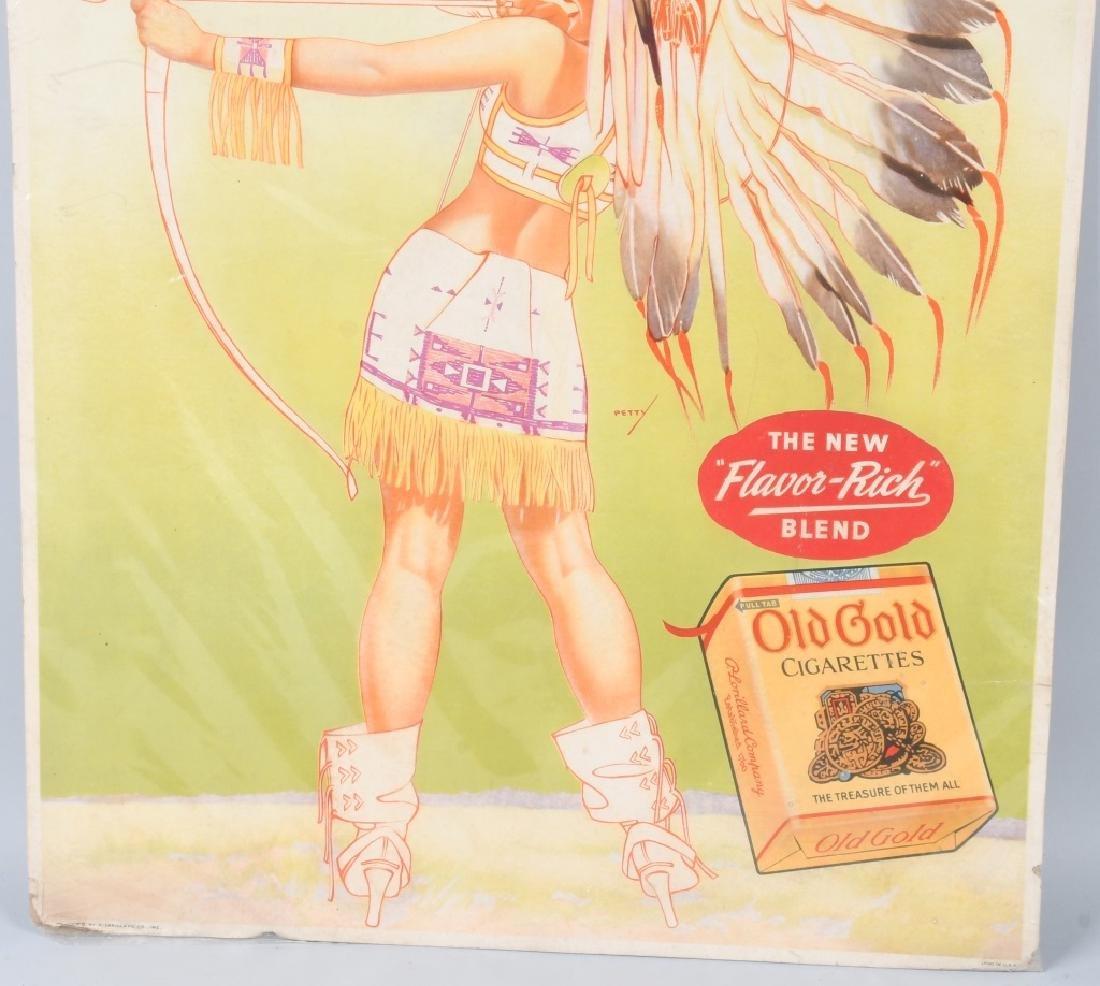 OLD GOLD CIGARETTES PINUP INDIAN GIRL SIGN - 3