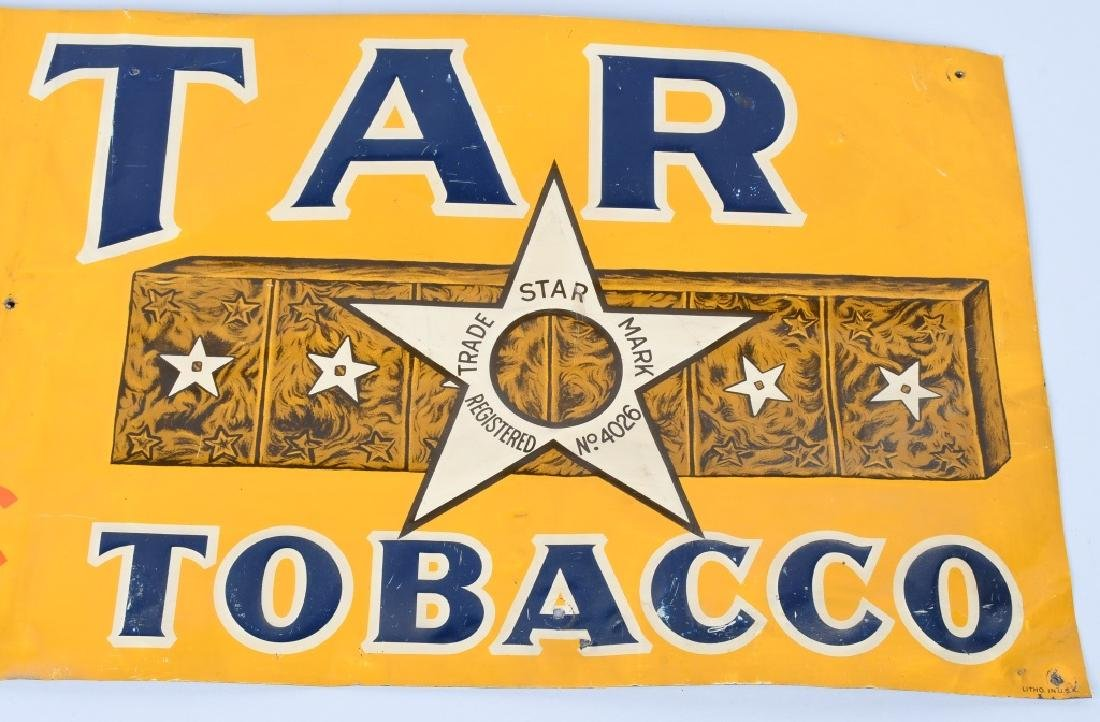 STAR TOBACCO EMBOSSED TIN SIGN - 2