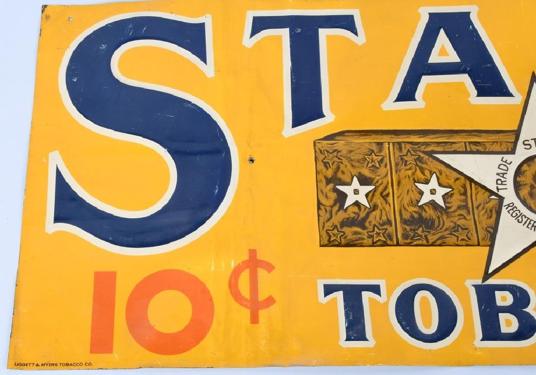 STAR TOBACCO EMBOSSED TIN SIGN - 3