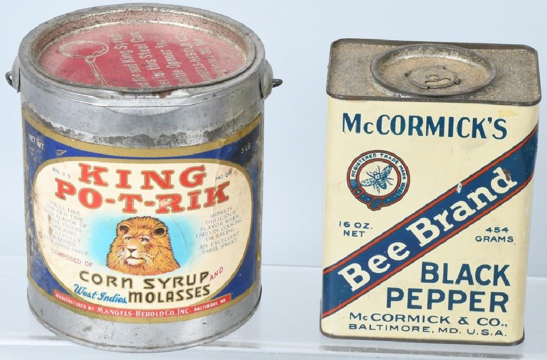 EARLY COFFEE TINS, PEPSI BOTTLE, & MORE - 2