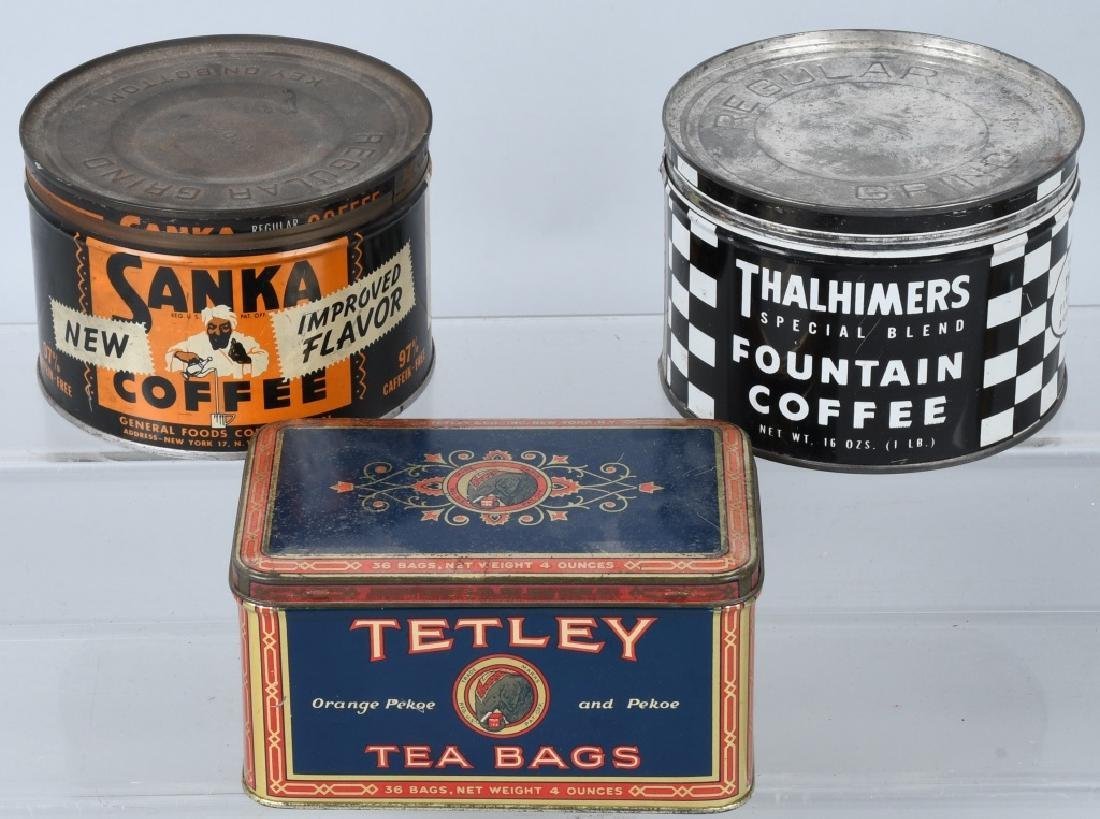 EARLY COFFEE TINS, PEPSI BOTTLE, & MORE - 4