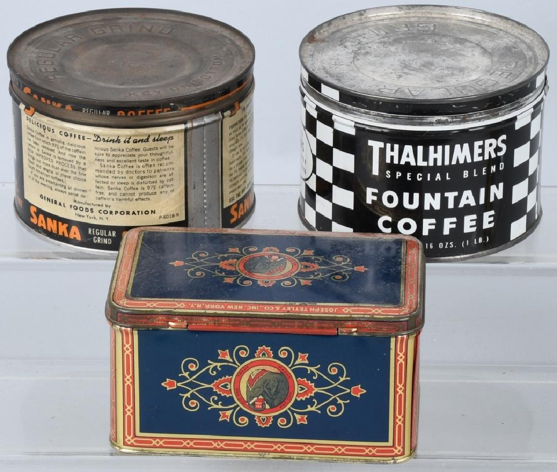 EARLY COFFEE TINS, PEPSI BOTTLE, & MORE - 5