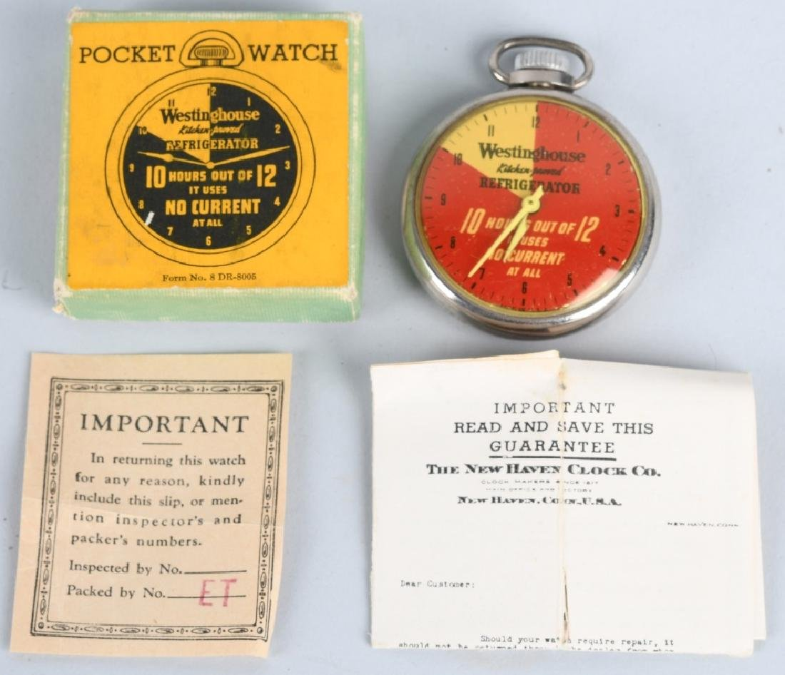 WESTINGHOUSE ADVERTISING POCKET WATCH, BOXED