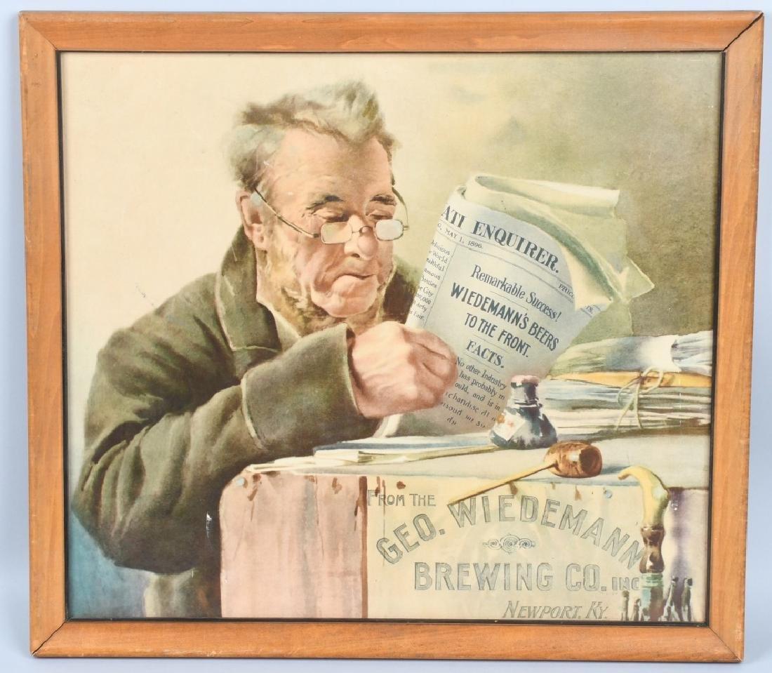 GEO. WIEDEMANN BREWING CO ADVERTISING PRINT