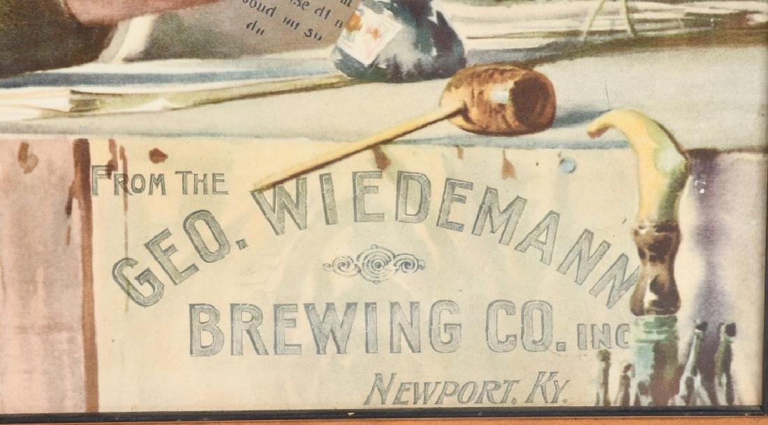 GEO. WIEDEMANN BREWING CO ADVERTISING PRINT - 2