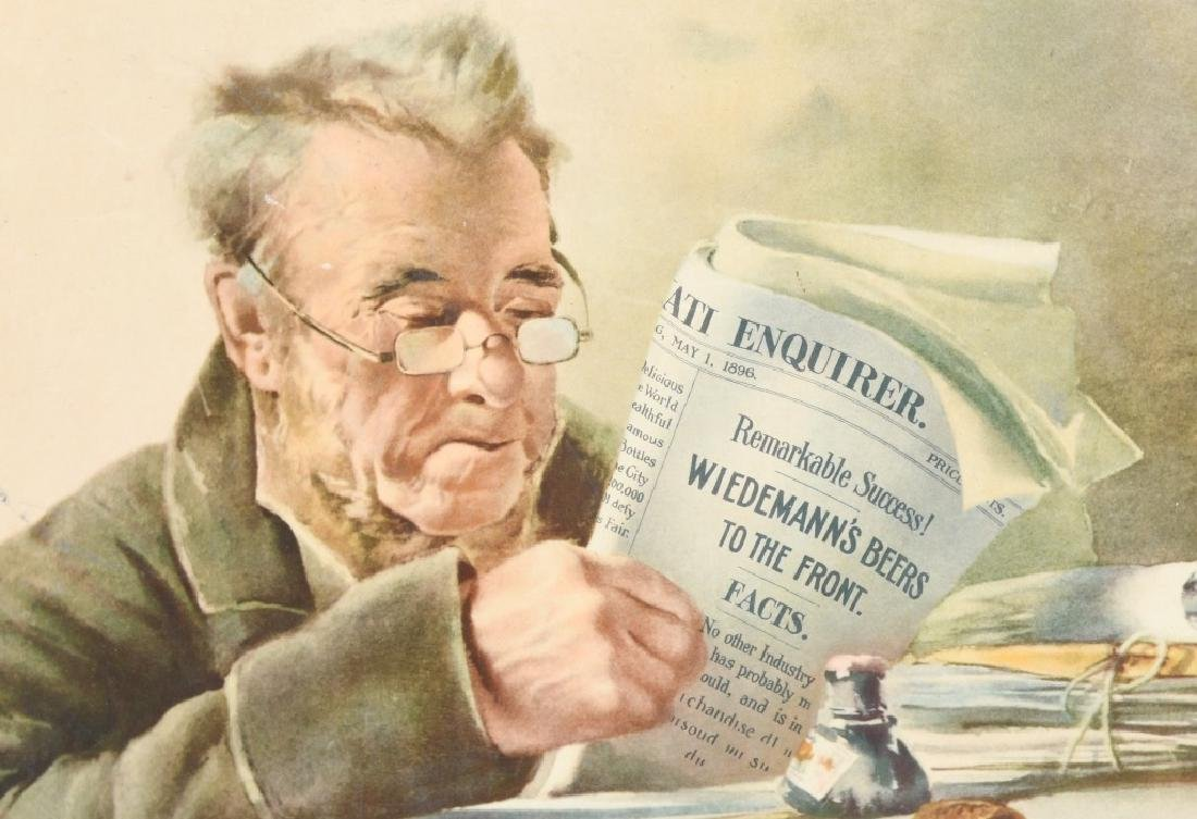 GEO. WIEDEMANN BREWING CO ADVERTISING PRINT - 3