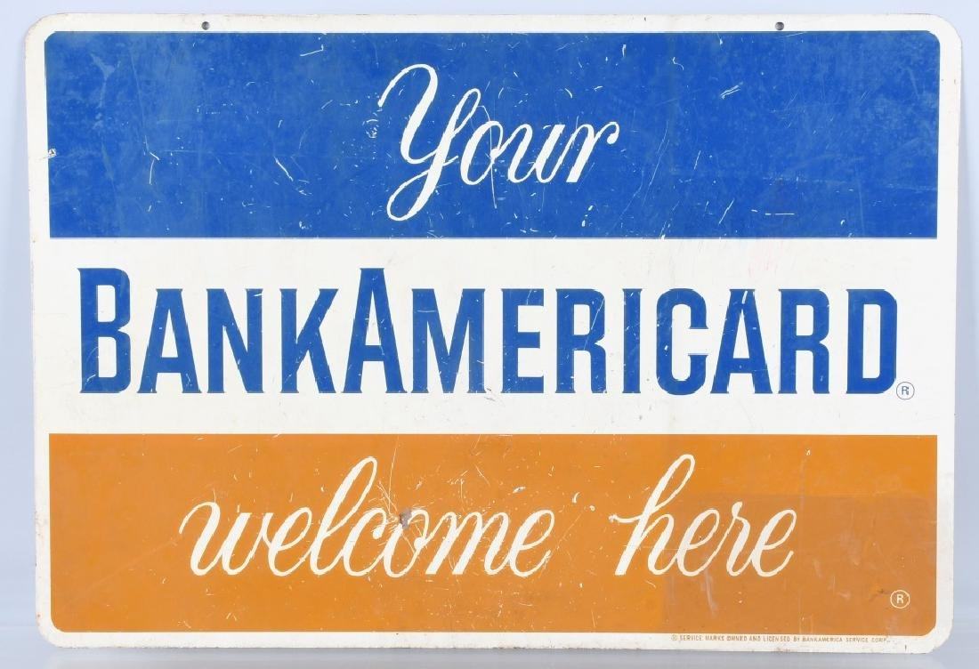BANK AMERICARD DS TIN SIGN