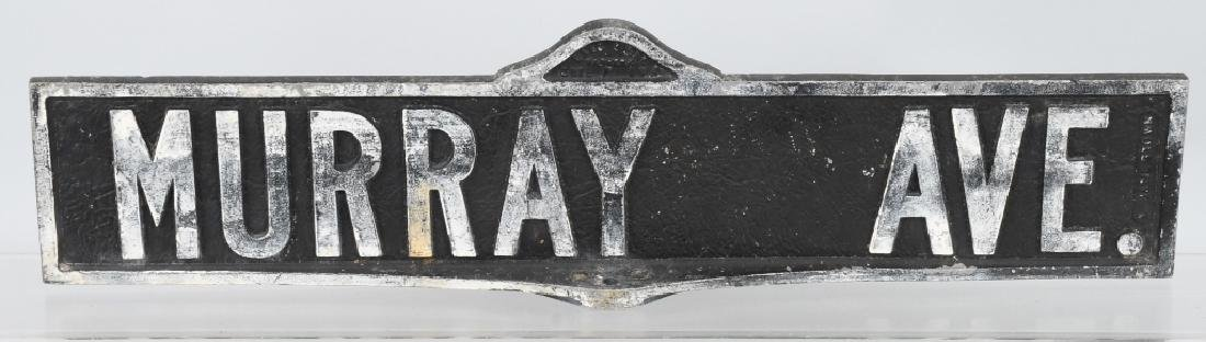 Early MURRY AVE Cast Aluminum STREET SIGN
