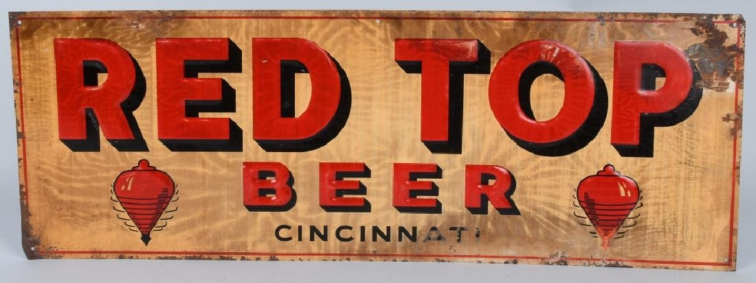 RED TOP BEER TIN SIGN