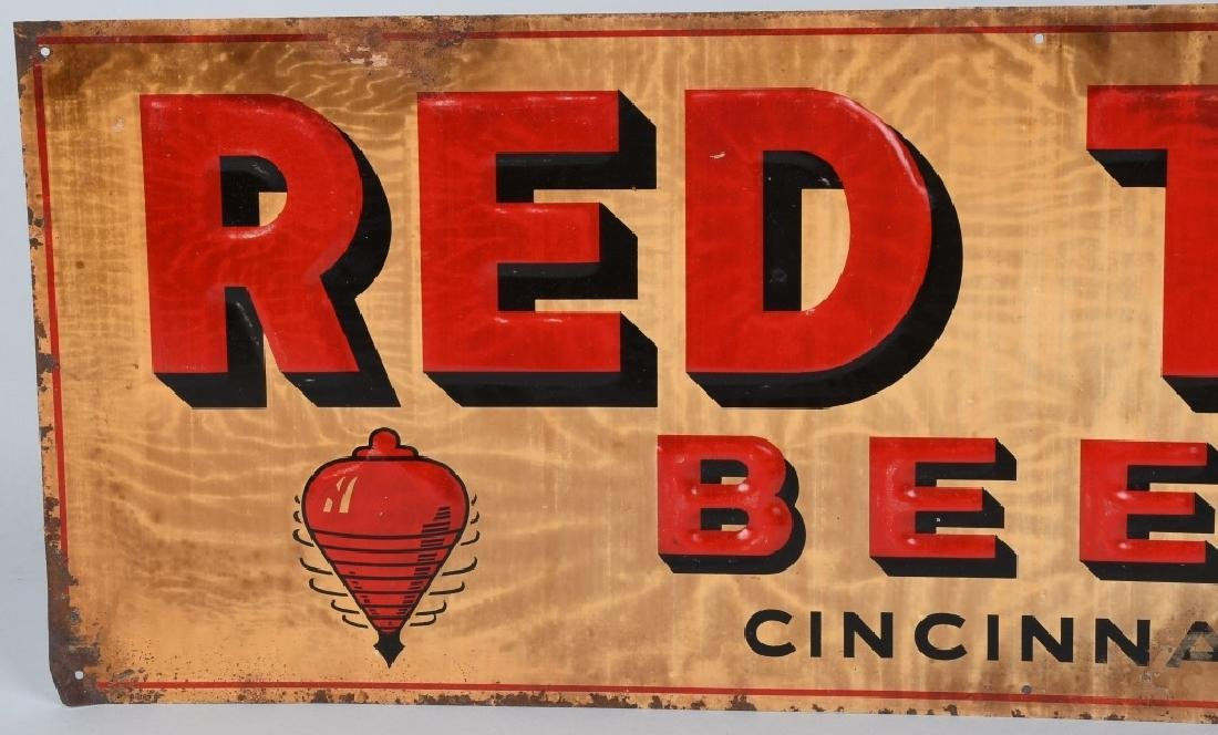 RED TOP BEER TIN SIGN - 2