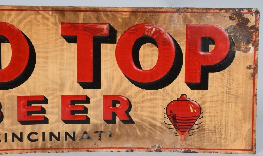 RED TOP BEER TIN SIGN - 3