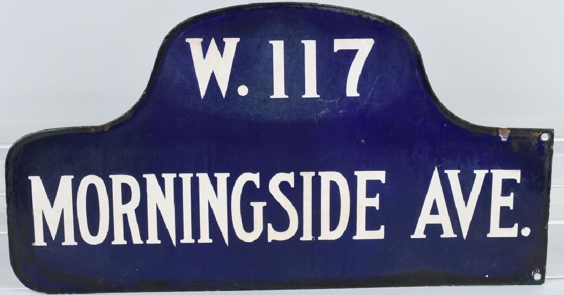NEW YORK CITY W.117 PORCELAIN STREET SIGN