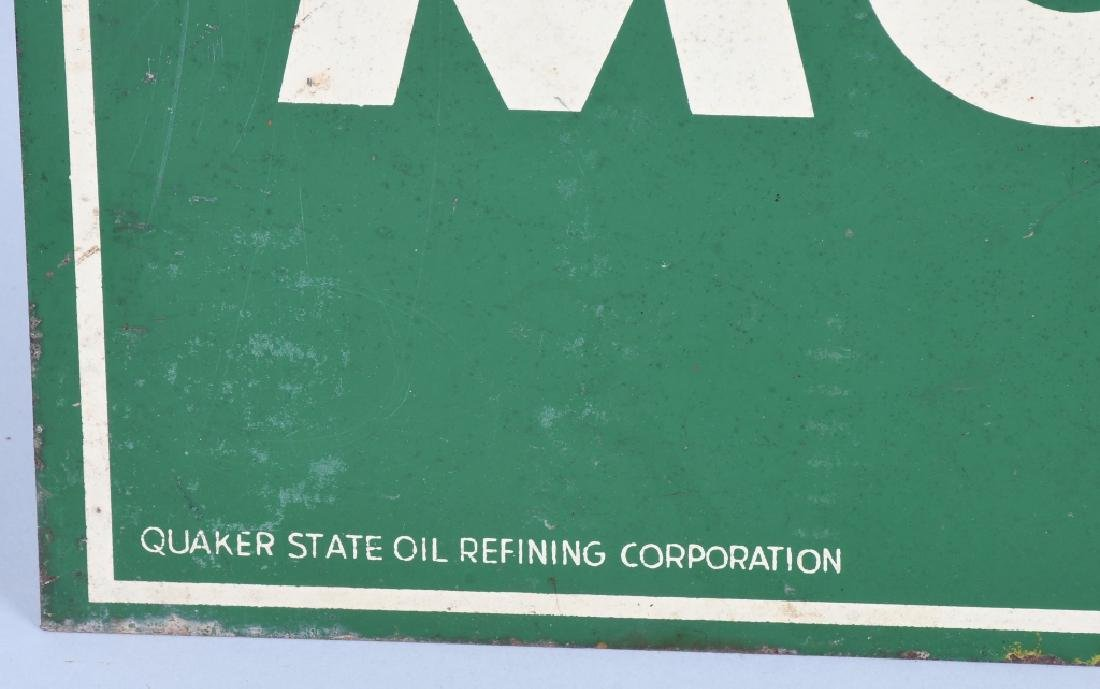 QUAKER STATE MOTOR OIL DS TOMBSTONE SIGN - 4