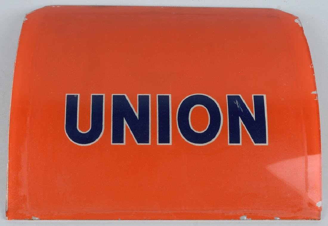 UNION 76 GLASS GAS PUMP SIGN