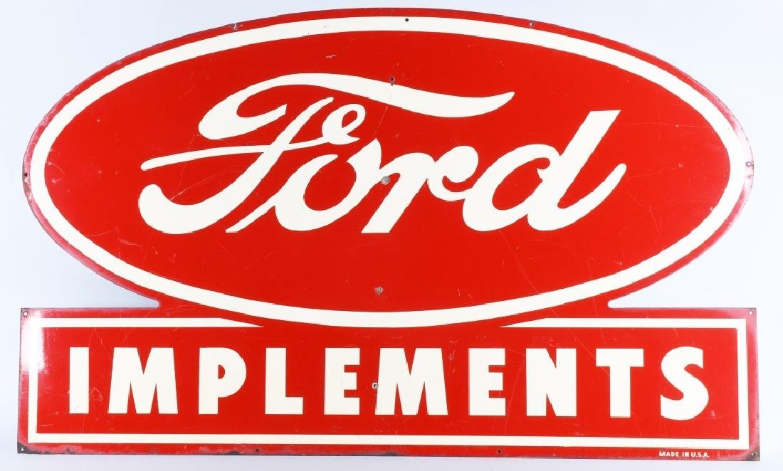 FORD TRACTOR IMPLEMENTS TIN SIGN