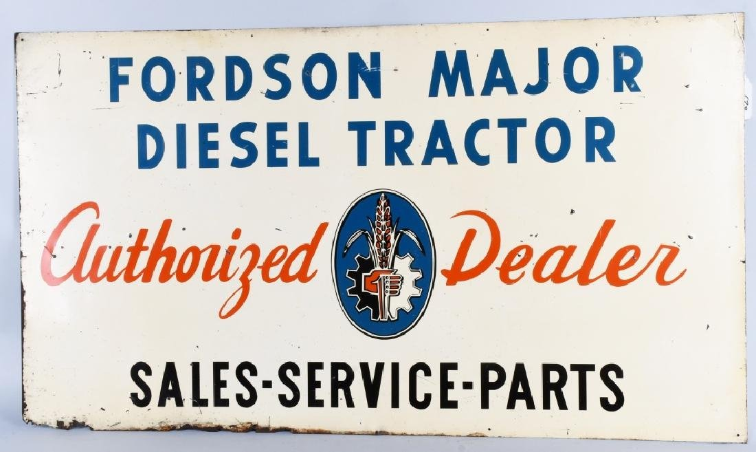 FORD FORDSON MAJOR DIESEL TRACTOR DEALER SIGN