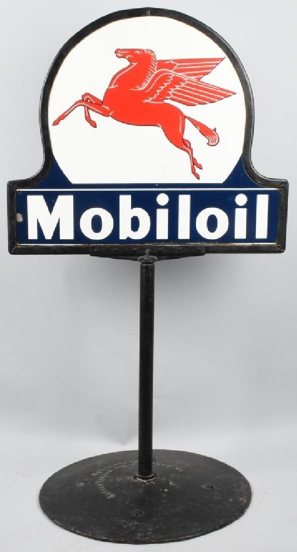 MOBILOIL PEGASUS KEYHOLE DS PORCELAIN SIGN