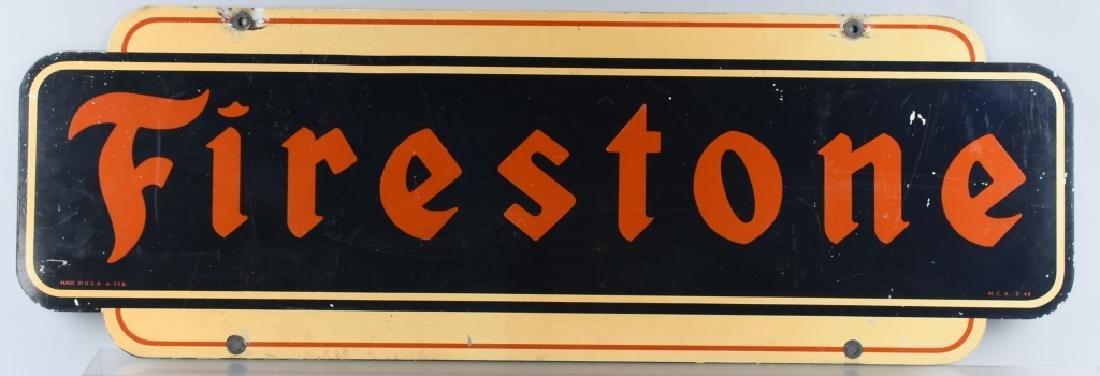 FIRESTONE DIECUT DS TIN SIGN - 2