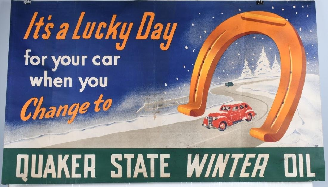 QUAKER STATE WINTER OIL BANNER