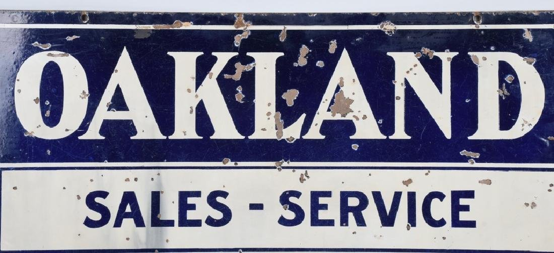OAKLAND PONTIAC SALES-SERVICE DS PORCELAIN SIGN - 2