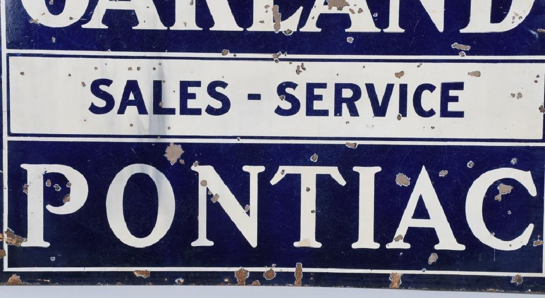 OAKLAND PONTIAC SALES-SERVICE DS PORCELAIN SIGN - 3