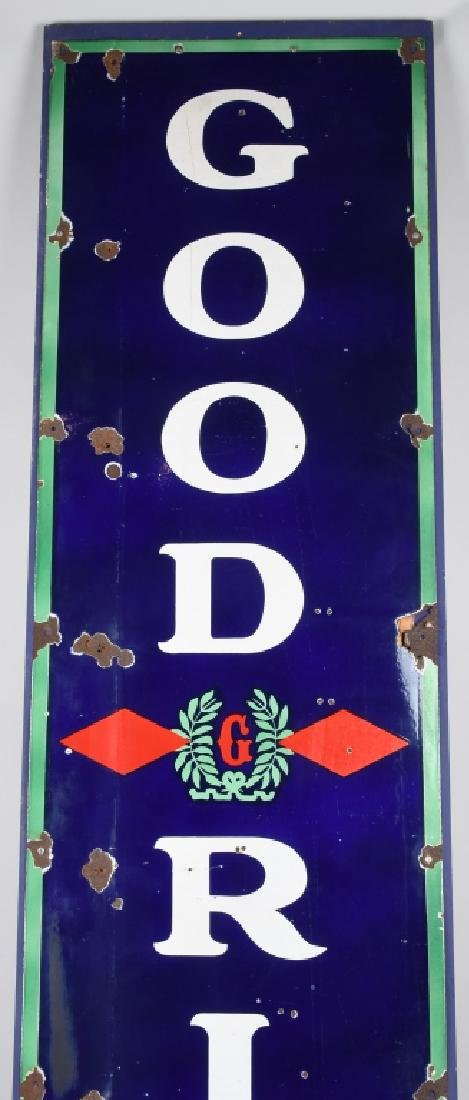 "94"" GOODRICH TIRES PORCELAIN SIGN w/ LOGO - 2"