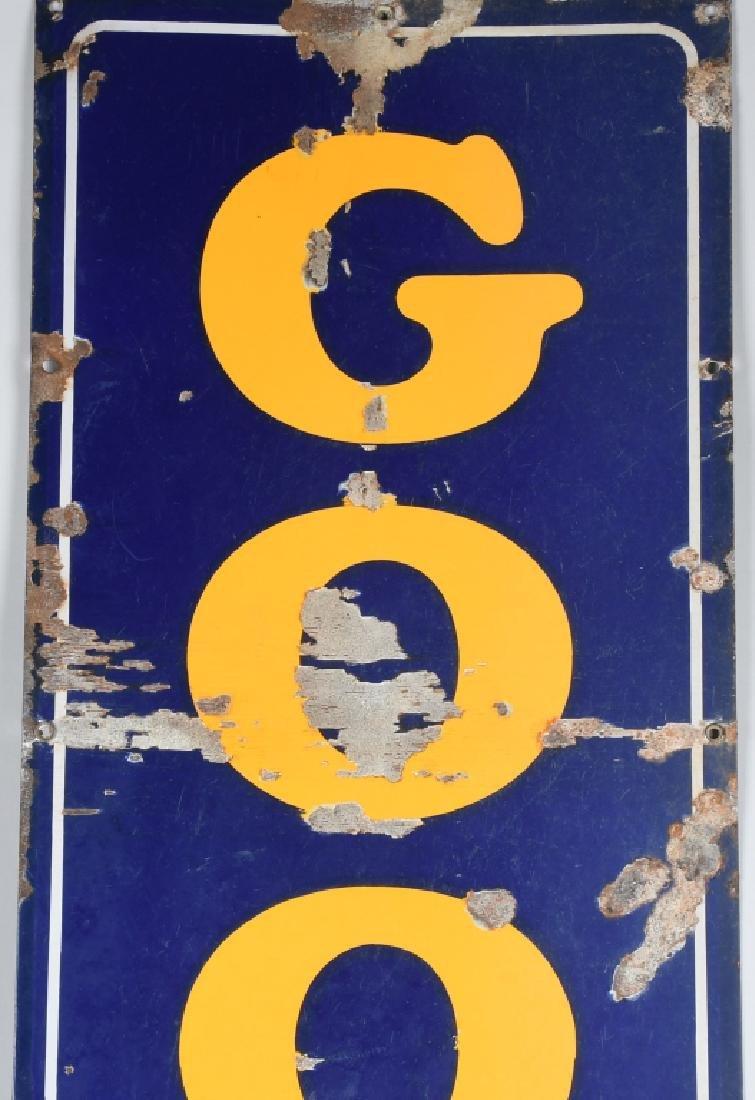 "94"" GOOD YEAR TIRES PORCELAIN SIGN w/ LOGO - 2"