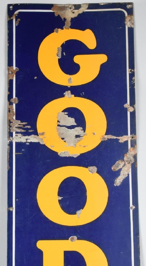 "94"" GOOD YEAR TIRES PORCELAIN SIGN w/ LOGO - 3"