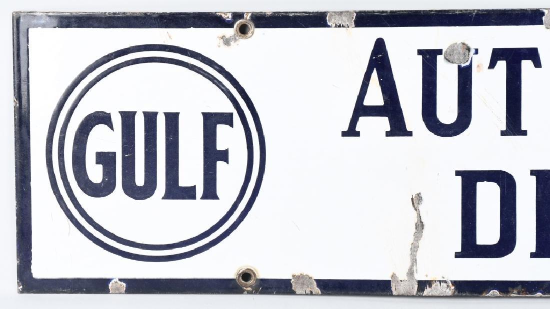 GULF AUTHORIZED DEALER PORCELAIN SIGN - 2