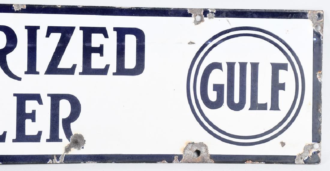 GULF AUTHORIZED DEALER PORCELAIN SIGN - 4