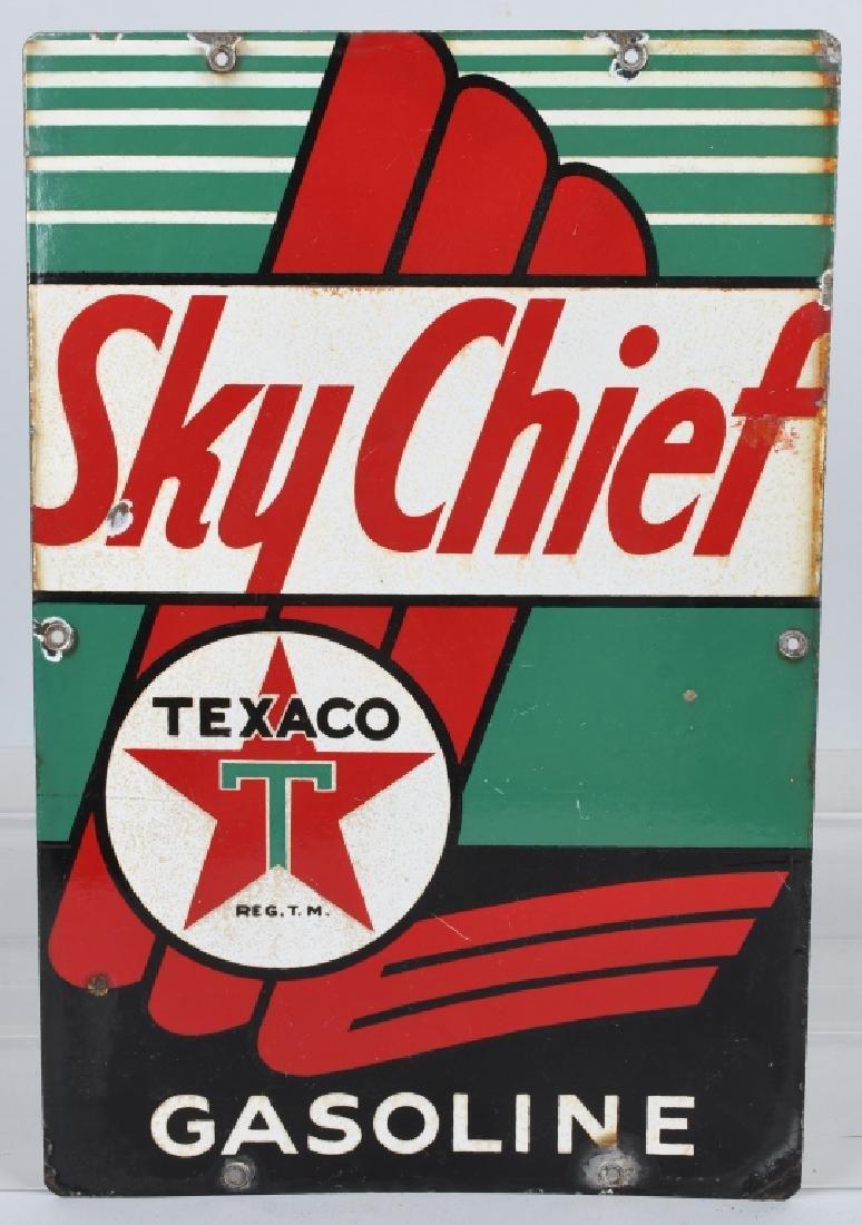 TEXACO SKY CHIEF PORCELAIN SIGN