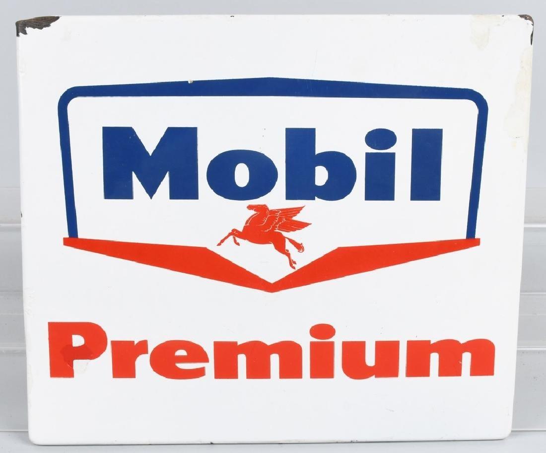 MOBIL PREMIUM PORCELAIN SIGN w/ PEGASUS LOGO