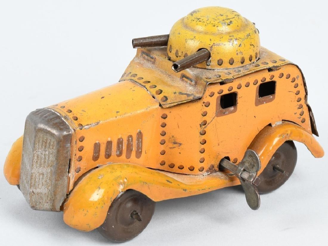PREWAR JAPAN Tin Windup ARMOURED CAR