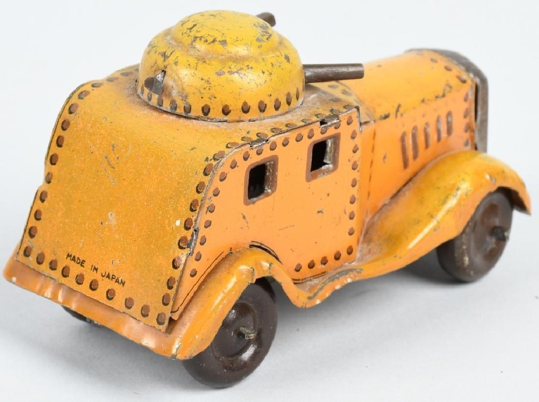 PREWAR JAPAN Tin Windup ARMOURED CAR - 3