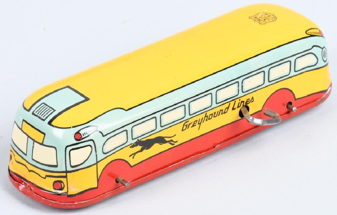 CHEIN Tin Windup GREYHOUND BUS & SPEED BOAT - 2
