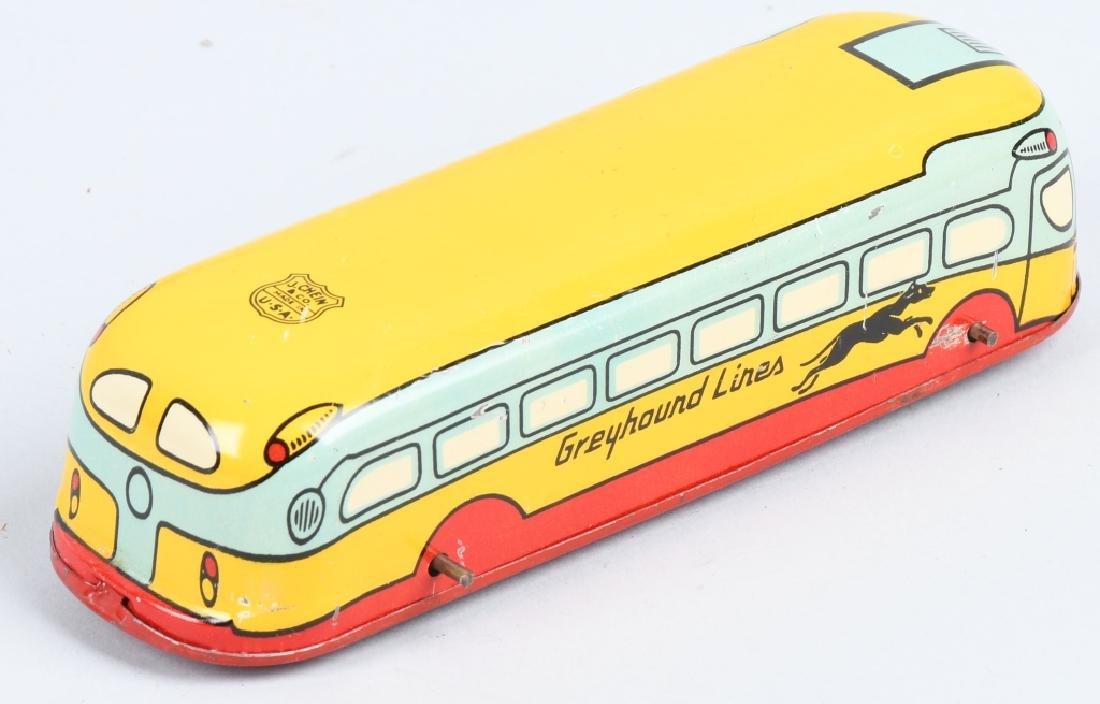 CHEIN Tin Windup GREYHOUND BUS & SPEED BOAT - 3