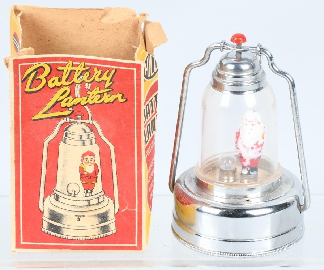 SANTA CLAUS BATTERY LANTERN w/ BOX