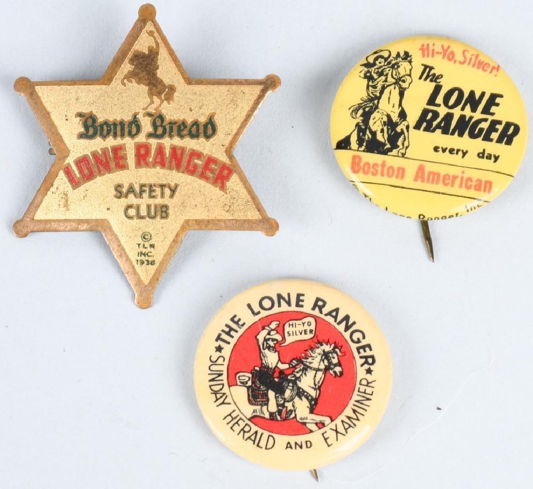 LONE RANGER PREMIUM PINBACKS & POCKET KNIFE - 4
