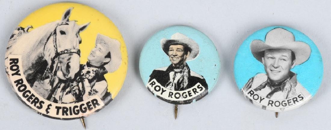ROY ROGERS PREMIUM PINBACKS & POCKET KNIFE - 2