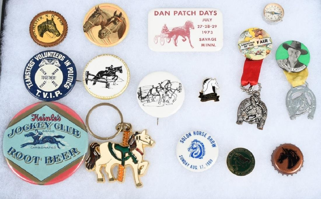 15- HORSE RELATED PREMIUMS & PINBACKS