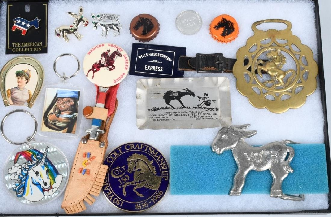 15- HORSE RELATED PREMIUMS & PINBACKS