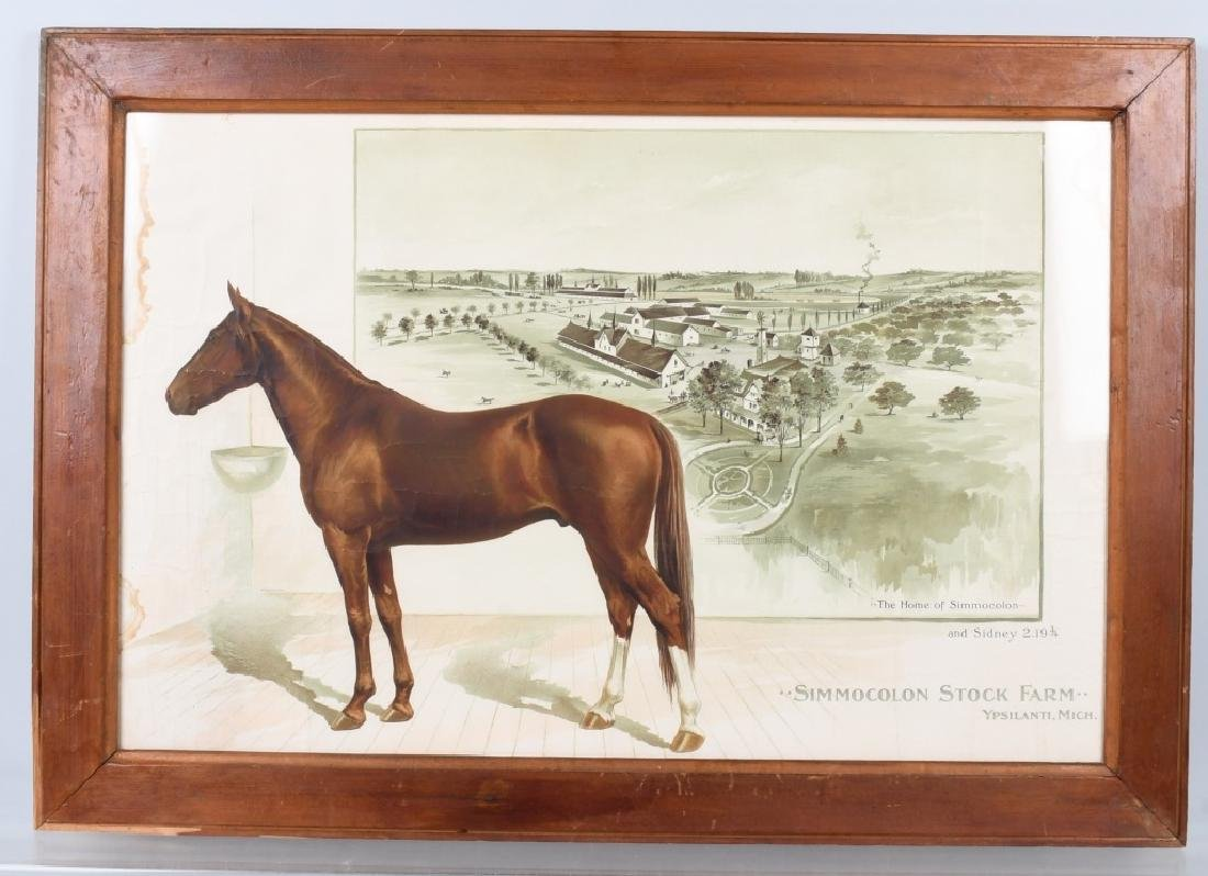 SIMMOCOLON STOCK HORSE FARM LITHO