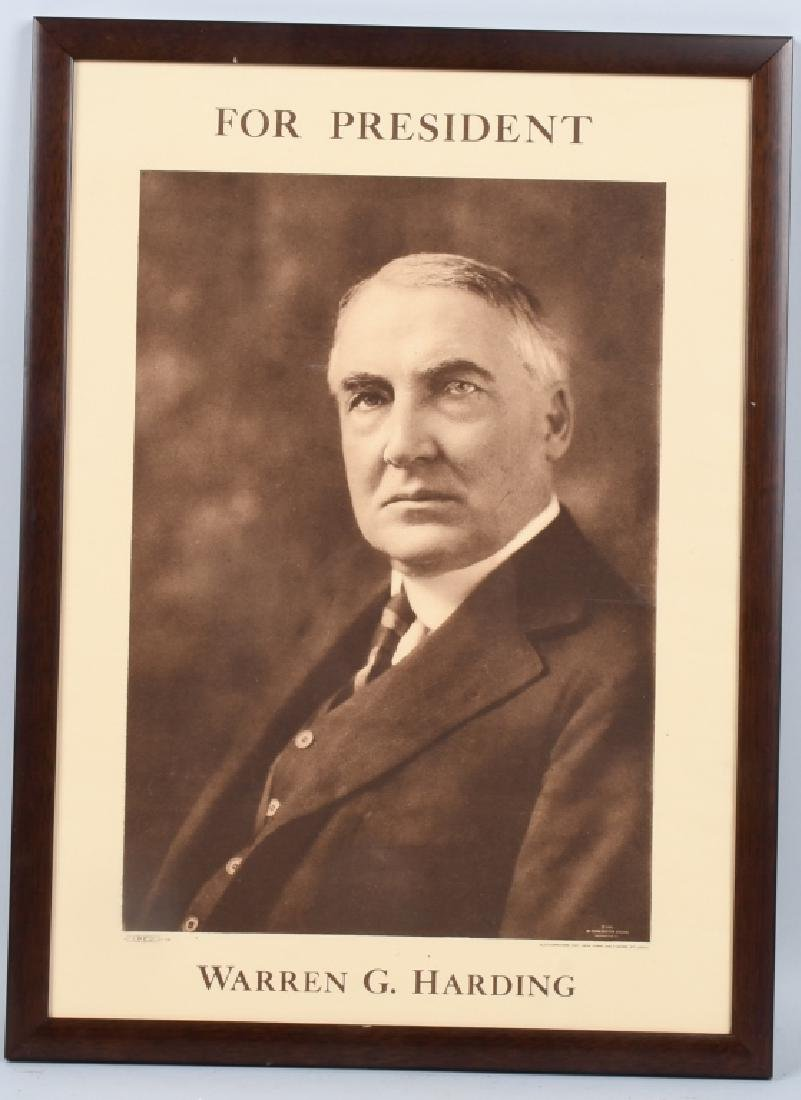 1920 WILLIAM G HARDING CAMPAIGN POSTER