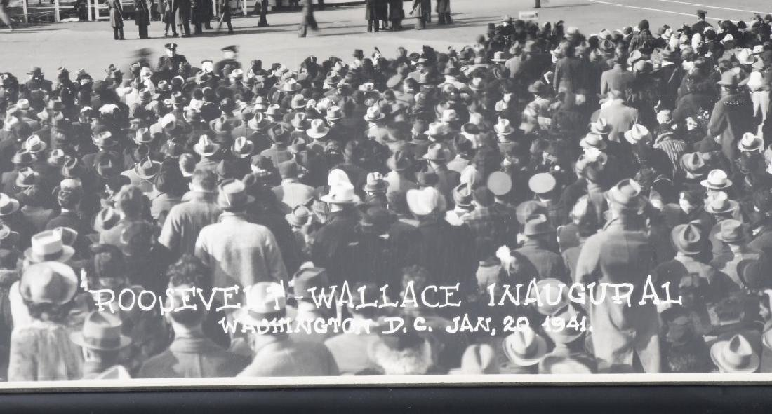1941 ROOSEVELT & WALLACE INAUGURAL YARD LONG PIC - 7